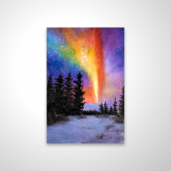 Magnetic 20 x 30 - 3D - Aurora borealis in the forest