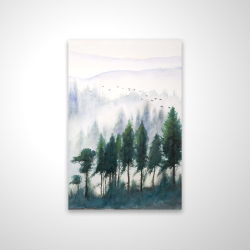 Magnetic 20 x 30 - 3D - Mountains landscape in watercolor