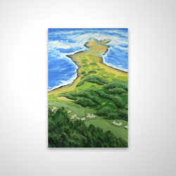 Magnetic 20 x 30 - 3D - Island overhead view with waves