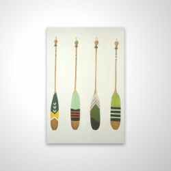 Magnetic 20 x 30 - 3D - Colorful nautical oars
