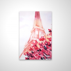 Magnetic 20 x 30 - 3D - Pink eiffel tower
