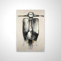 Magnetic 20 x 30 - 3D - Small black moped
