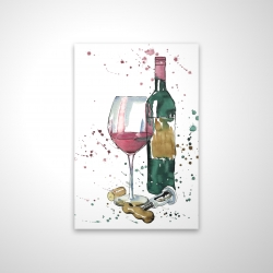 Magnetic 20 x 30 - 3D - Bottle of red wine