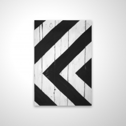 Magnetic 20 x 30 - 3D - Rhombus on wood