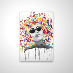 Magnetic 20 x 30 - 3D - Woman street art pop