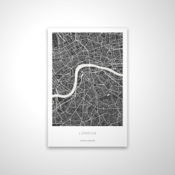 Magnetic 20 x 30 - 3D - Graphic map of london