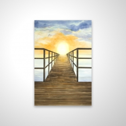 Magnetic 20 x 30 - 3D - Sunset in the sea