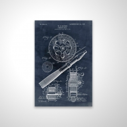 Magnetic 20 x 30 - 3D - Blueprint of a fishing reel