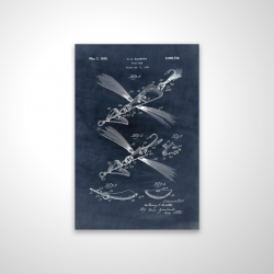 Magnetic 20 x 30 - 3D - Blueprint of a fish lure