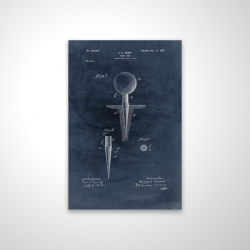 Magnetic 20 x 30 - 3D - Blueprint of golf tee