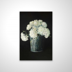 Magnetic 20 x 30 - 3D - White hydrangea flowers