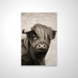 Magnetic 20 x 30 - 3D - Highland cattle sepia