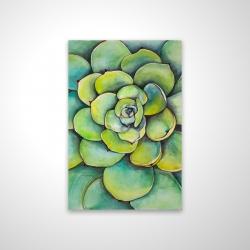 Magnetic 20 x 30 - 3D - Watercolor succulent plant