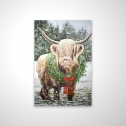 Magnetic 20 x 30 - 3D - Highland christmas cow