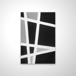 Magnetic 20 x 30 - 3D - Black and white abstract lines