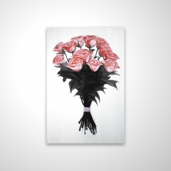 Magnetic 20 x 30 - 3D - Bouquet of coral roses