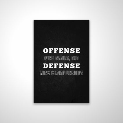 Offense wins games...