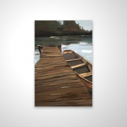 Magnetic 20 x 30 - 3D - Lake, dock and boat