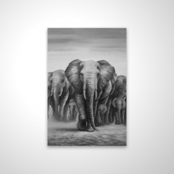 Magnetic 20 x 30 - 3D - Herd of elephants