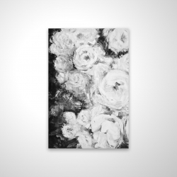 Magnetic 28 x 42 - 3D - Monochrome rose garden