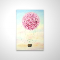 Magnetic 28 x 42 - 3D - Hot air balloon hydrangea flowers