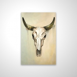 Magnetic 20 x 30 - 3D - Color fading bull skull
