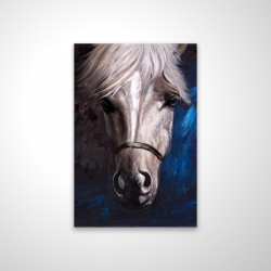 Magnetic 20 x 30 - 3D - White horse on blue background