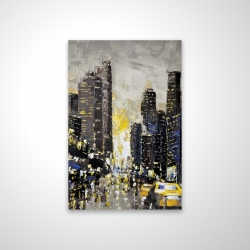 Magnetic 20 x 30 - 3D - Abstract and texturized city with yellow taxis