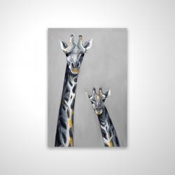 Magnetic 20 x 30 - 3D - Steel blue giraffe