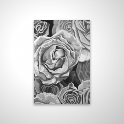 Magnetic 20 x 30 - 3D - Grayscale roses