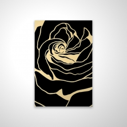 Magnetic 20 x 30 - 3D - Cutout black rose
