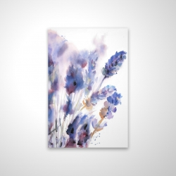 Magnetic 20 x 30 - 3D - Watercolor lavender flowers with blur effect