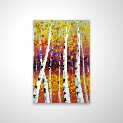 Magnetic 20 x 30 - 3D - Colored birches