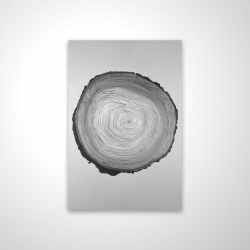 Magnetic 28 x 42 - 3D - Grayscale round wood log