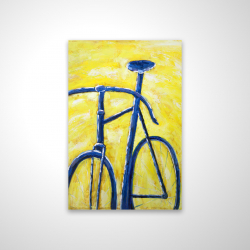 Magnetic 20 x 30 - 3D - Blue bike on yellow background