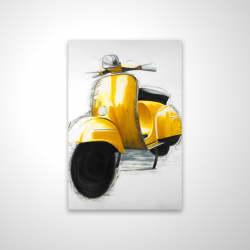 Magnetic 20 x 30 - 3D - Yellow italian scooter