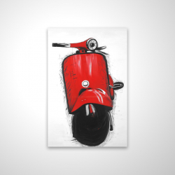 Magnetic 20 x 30 - 3D - Red italian scooter