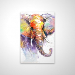 Magnetic 20 x 30 - 3D - Beautiful and colorful elephant