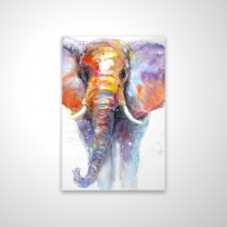 Magnetic 20 x 30 - 3D - Colorful walking elephant