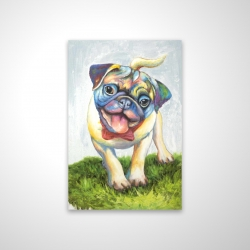 Magnetic 20 x 30 - 3D - Colorful smiling pug