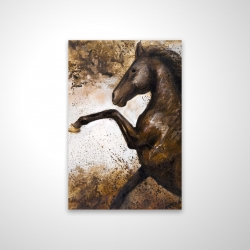Magnetic 20 x 30 - 3D - Horse rushing into the soil