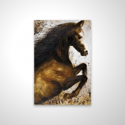Magnetic 20 x 30 - 3D - Horse rushing into the dust