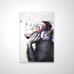 Magnetic 20 x 30 - 3D - Monkey listening music