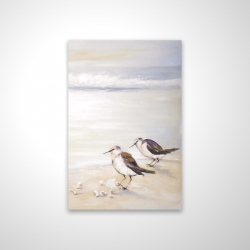 Magnetic 20 x 30 - 3D - Two sandpipers on the beach