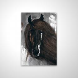 Magnetic 20 x 30 - 3D - Dark brown horse