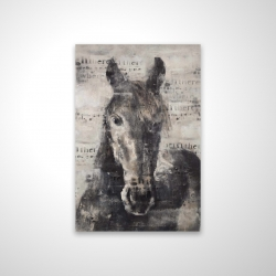 Magnetic 20 x 30 - 3D - Abstract horse with typography