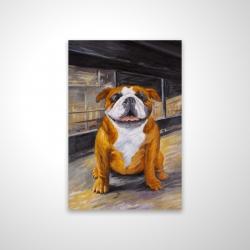Magnetic 20 x 30 - 3D - Smiling bulldog