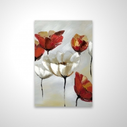 Magnetic 20 x 30 - 3D - Abstract red and white flowers
