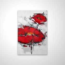 Magnetic 20 x 30 - 3D - Texturized red poppies