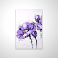 Magnetic 20 x 30 - 3D - Purple abstract flowers